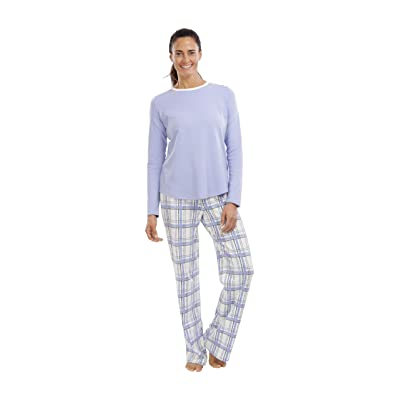 jijamas Incredibly Soft Pima Cotton Women's Pajamas Set - The Periwinkle Set at Women's Clothing store