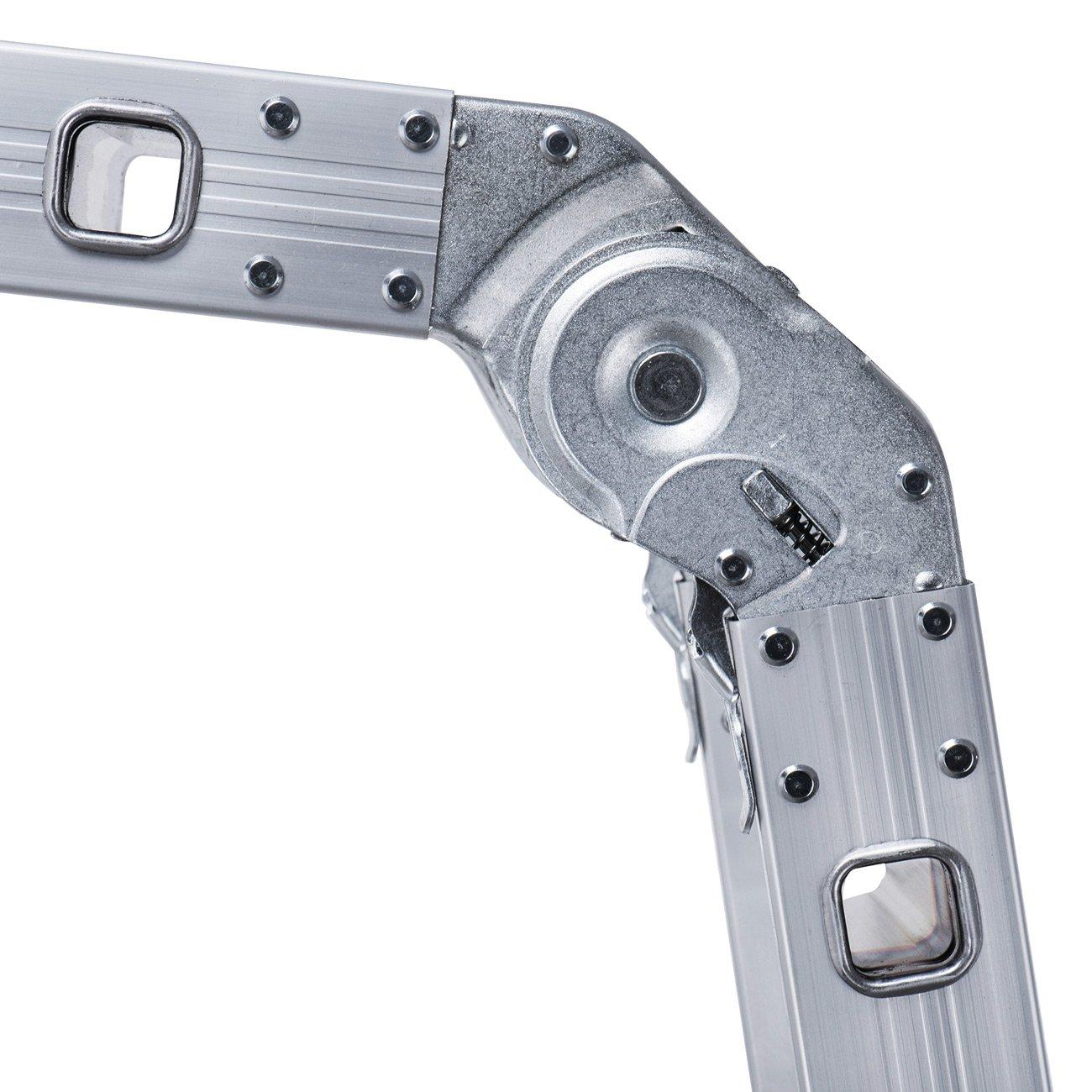 MAXCRAFT Escalera Multifunción Multi-propósito Escalera Ajustable Plegable Aluminio Carga 150 kg Conforme EN-131 - Longitud 5,51 m 2019: Amazon.es: ...