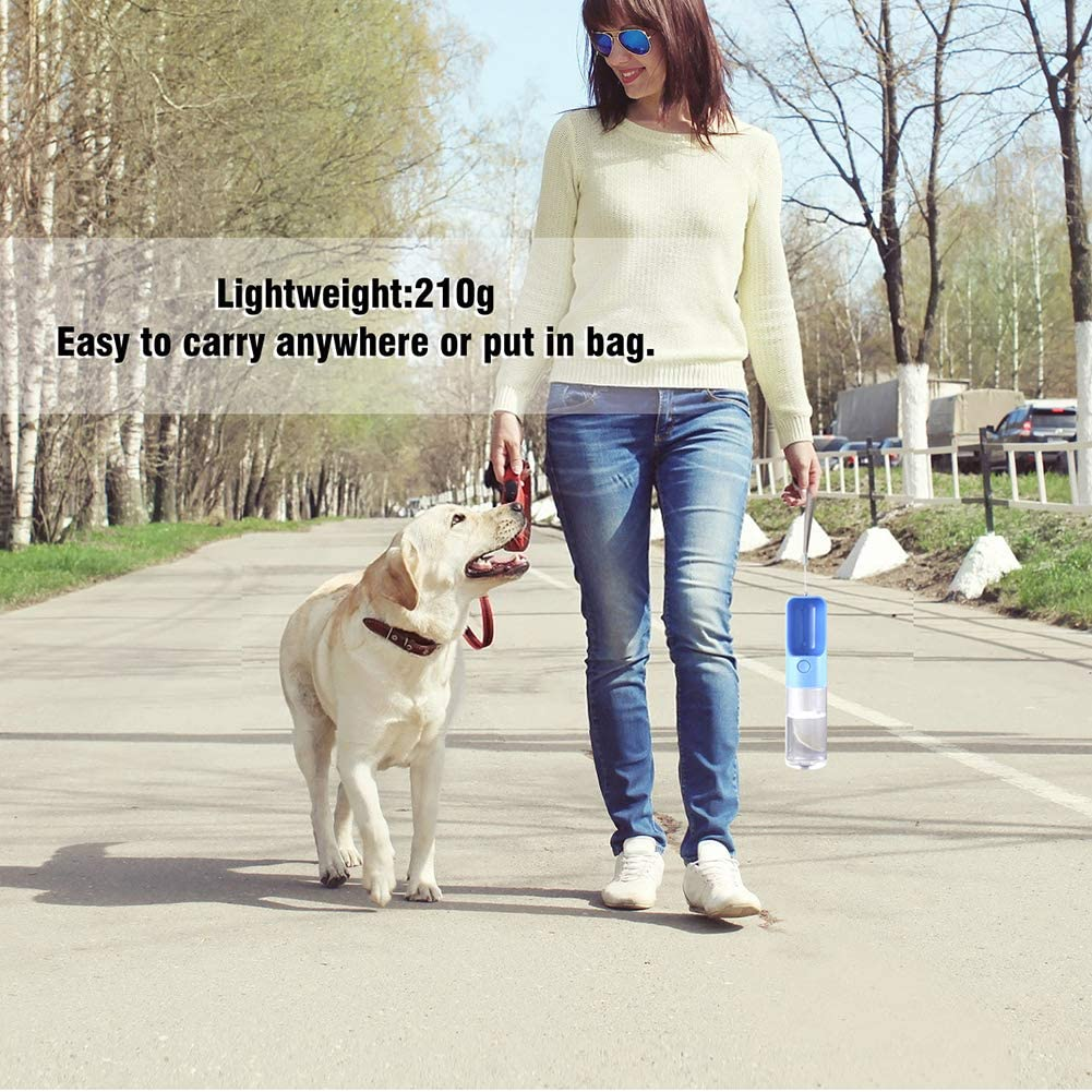 Freahap Pet Water Bottle Portable Puppy Water Dispenser Easy to Carry for Daily Walks Red