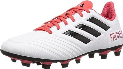 Del Sur estar impresionado Auto  Amazon.com: adidas Predator 18.4 FxG White/Black/Red Soccer Shoes (CM7669):  Shoes