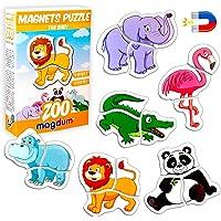 Magnetica puzzle 3 años MAGDUM Animales ZOO - 6 Grandes Puzzle bebe 1 año - Juguetes magnéticos - Imanes nevera niños…