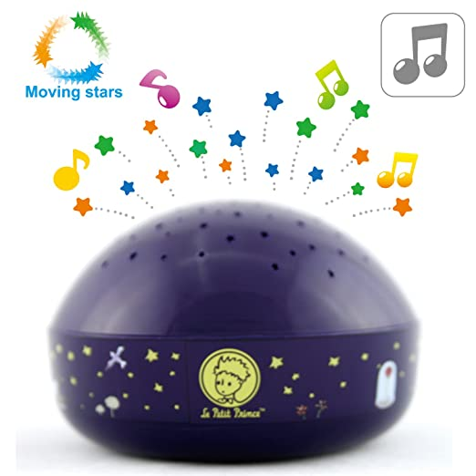 Amazon.com: Le Petit Prince Moving Twinkle Stars Night Light Projector Sound Machine by Lumitusi: Baby