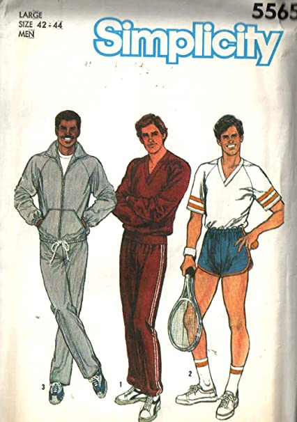 Amazon.com: Simplicity 5565 Sewing Pattern for Men\'s Raglan Sleeve ...