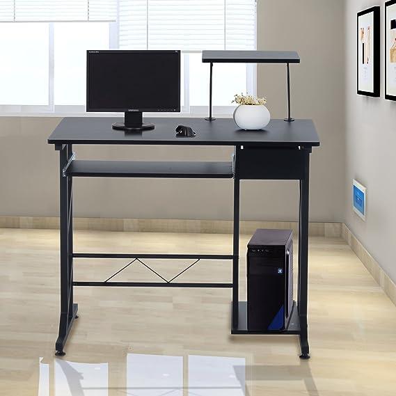HOMCOM Mesa de Ordenador PC Despacho Escritorio 90x50x95cm ...