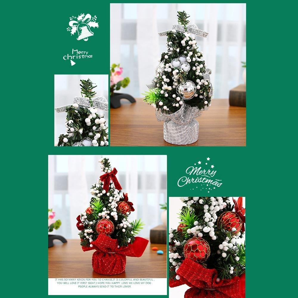 Amazon.com: Leegoal(TM) Mini Desk Christmas Tree, Xmas Decor Desk ...