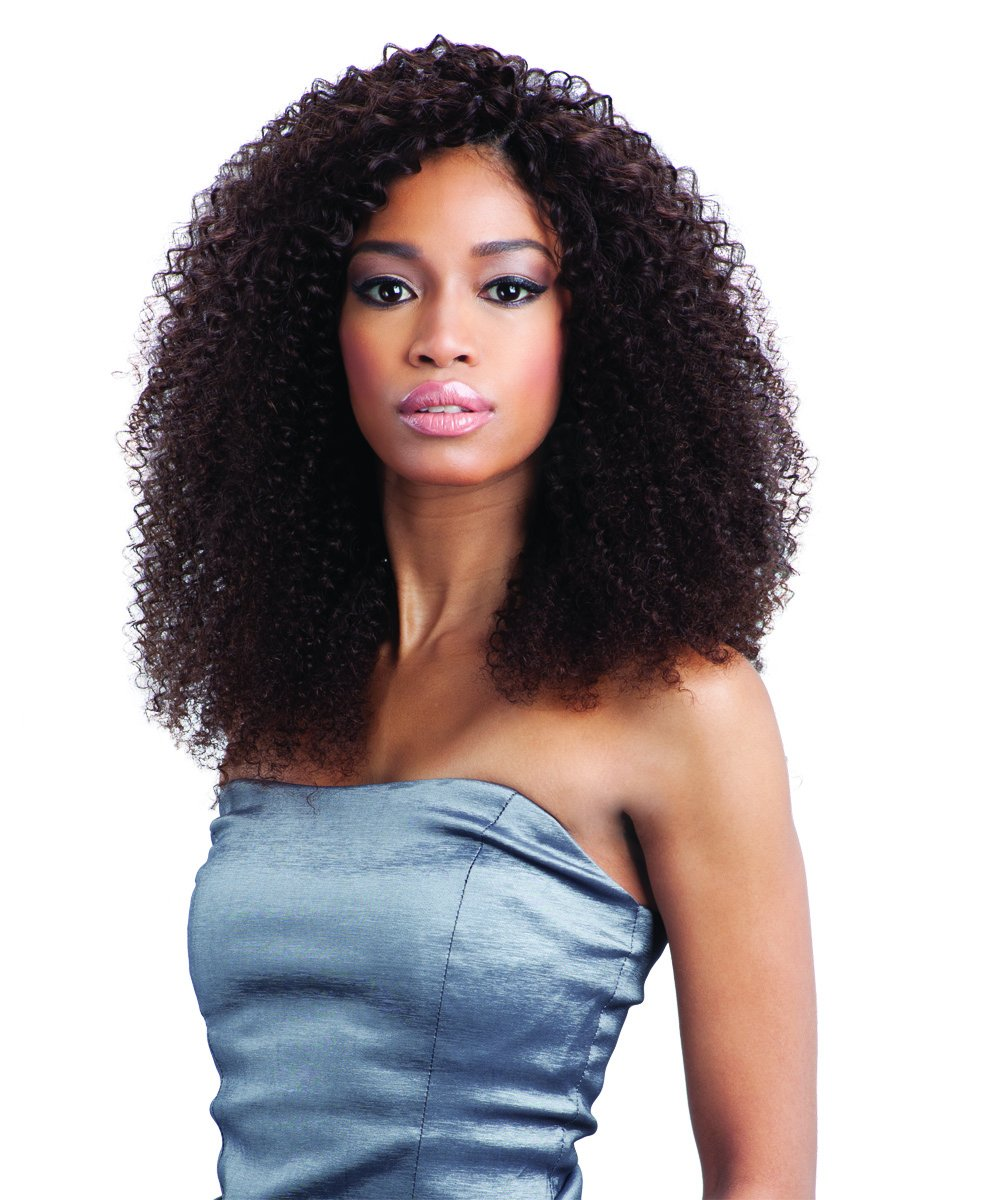 Naked Unprocessed Brazilian Remy Hair Weave - BOHEMIAN 7PCS (14''/14''/16''/16''/18''/18'' + CLOSURE, NATURAL DARK) by Naked (Image #1)