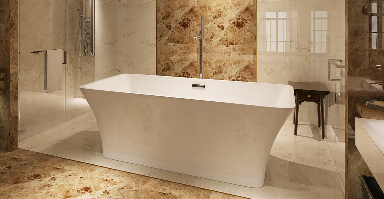 "Kardiel HB BT PARVA 59"" RO Freestanding Acrylic Bathtub"