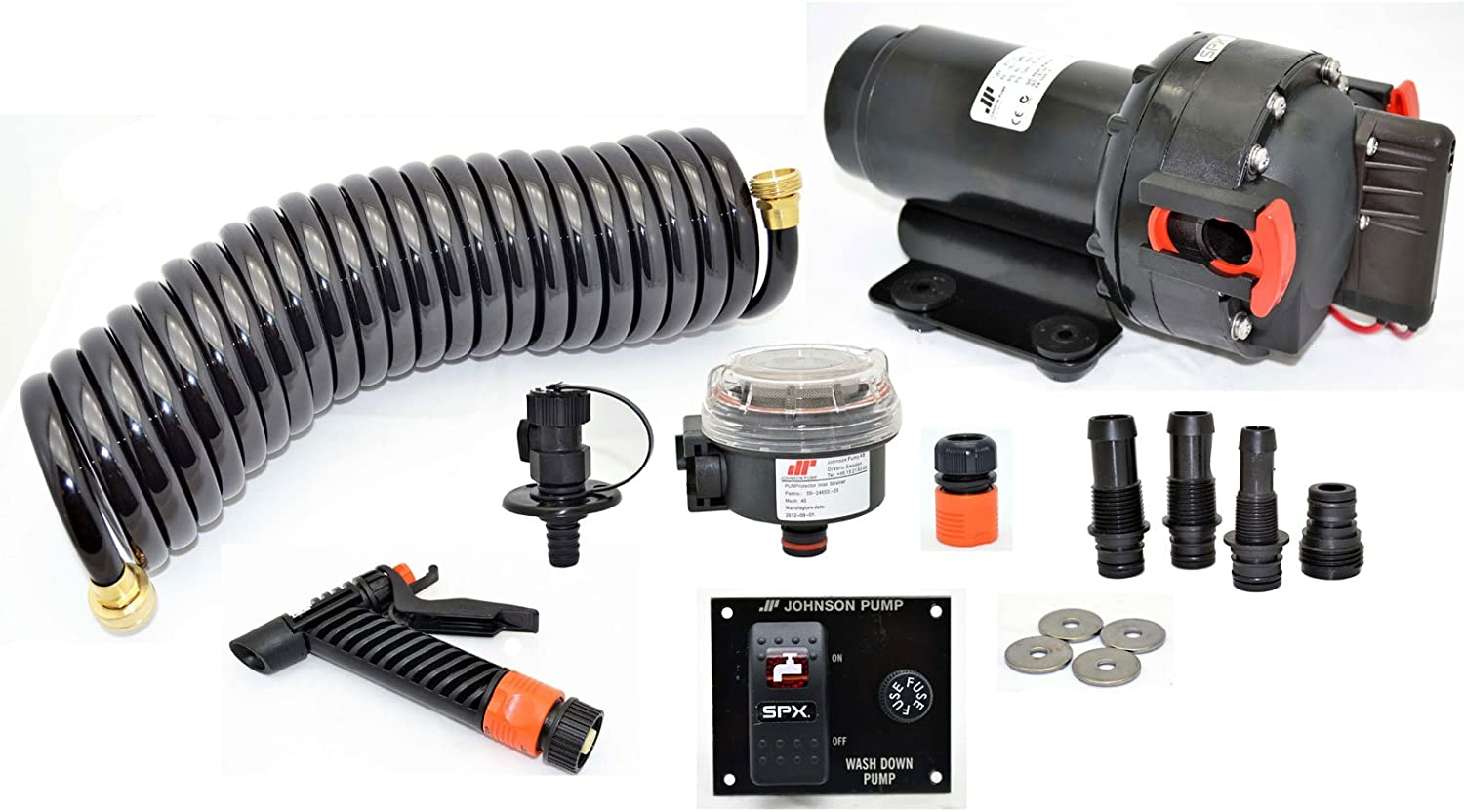 Johnson Pump 65434 Aqua Jet Wash Down 5.2 GPM Pump Kit - 12V