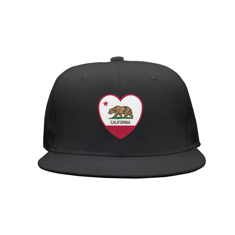 ff0e302d1db Quenei Miex Women s Men s Adjustable Baseball Cap Clipart California Flag  Heart Snapback hat at Amazon Men s Clothing store