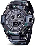 SBAO Analogue-Digital Black Military Camouflage Men's & Boy's Watch - (SB 416)