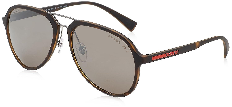 Prada Linea Rossa 0PS 05RS Gafas de sol, Havana Rubber, 58 para Hombre