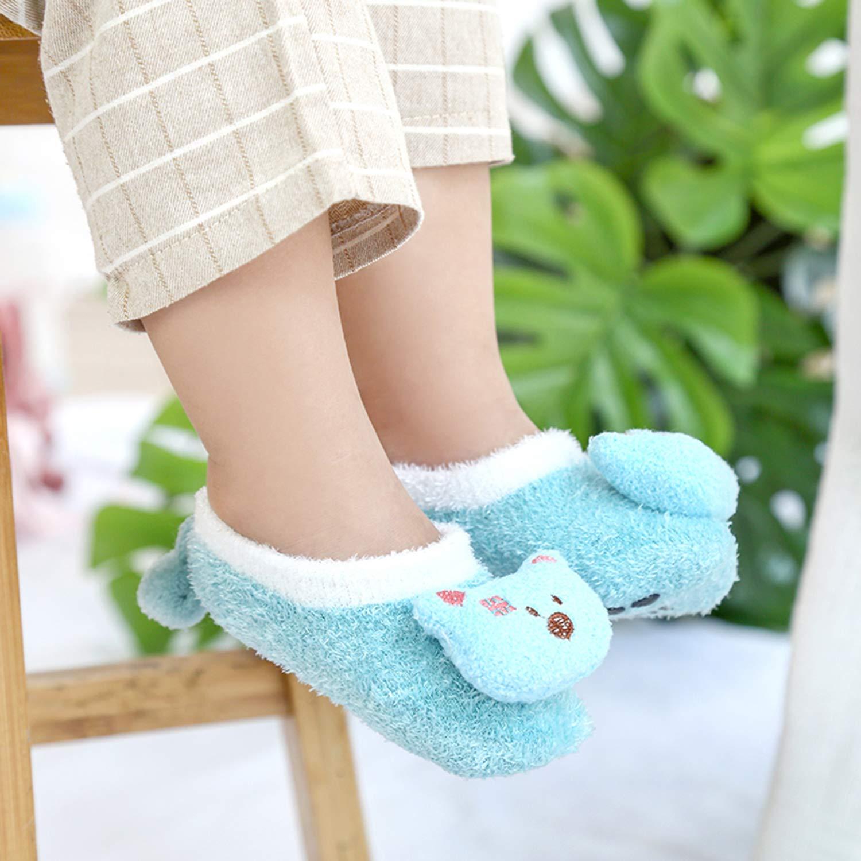StylesILove Unisex Infant Baby Cute Animals Soft Cotton Anti-Slip Slipper Socks