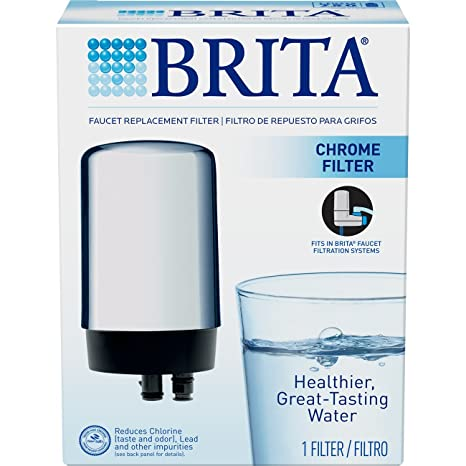 Brita On Tap Faucet Water Filter System Replacement Filters, Chrome ...