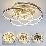 LED Deckenleuchte im floralen Design - 3000 K - 300 - 3200 Lumen - Kreative Lampe mit verschlungenen Elementen - stilisierte Blumer - Gemütliche Wohnzimmerlampe mit warmweißem Licht - Dimmbar