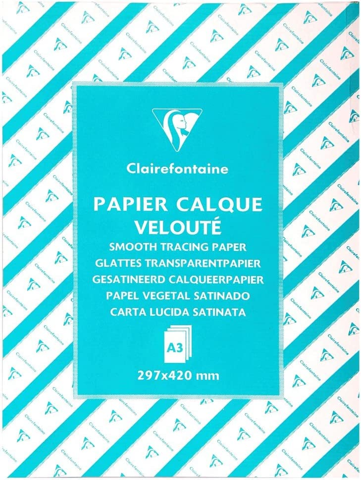 500 Sheets Clairefontaine Tracing Paper A4 70//75 g