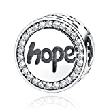 Amazon Price History for:Sterling Silver Hope Inspirational Charms Bead Faith Charm with 3A Zircon Charms Fit Snake Chain Bracelet