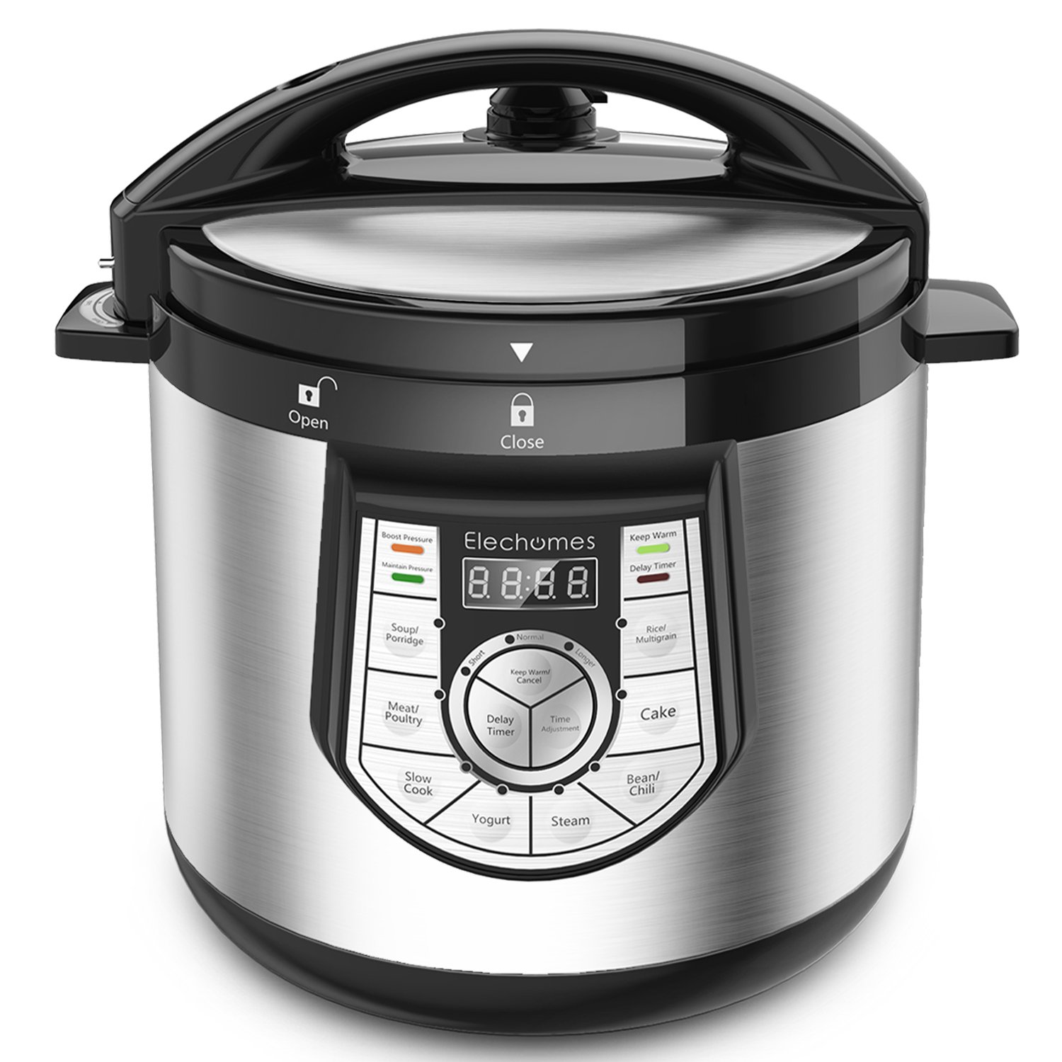 12-in-1 Pressure Cooker - Elechomes 1000 W 6 Qt Multi-use Programmable Electric Pressure Cooker
