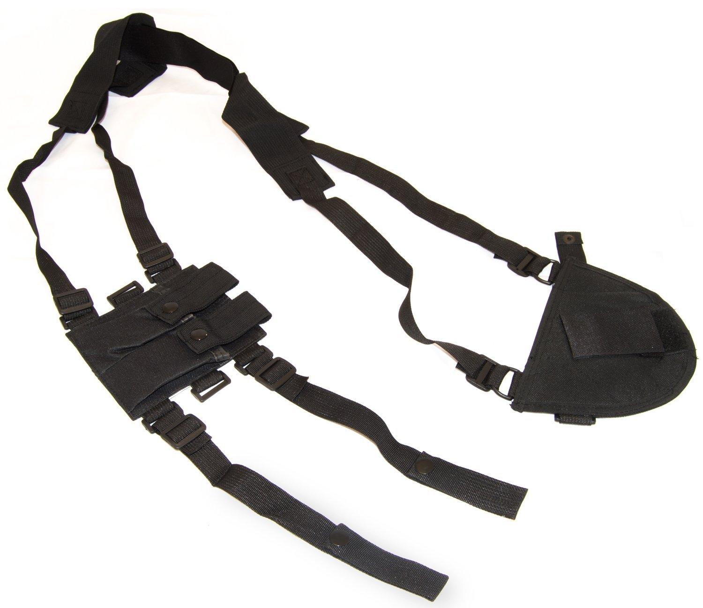 b5117c362 Adtrek Black Right Hand Tactical/Military Gun Pistol Shoulder Holster &  Cartridge Pouch: Amazon.co.uk: Sports & Outdoors
