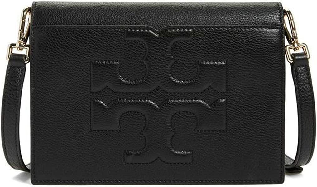 f386082855ab26 Tory Burch Bombe T Combo Leather Cross Body Bag Women s Leather ...