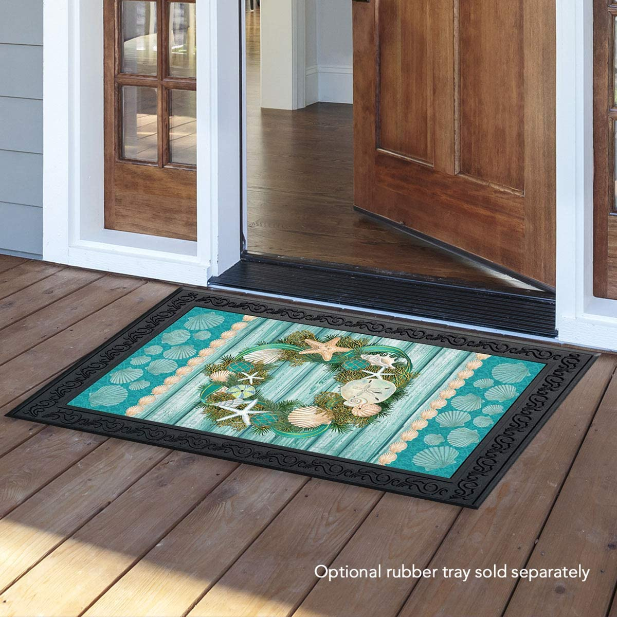Briarwood Lane Coastal Wreath Summer Doormat Nautical Indoor Outdoor 18 x 30