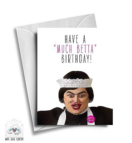 "RuPaul/'s Drag Race Baga Chipz /""Have a bloody good birthday/"" Card"