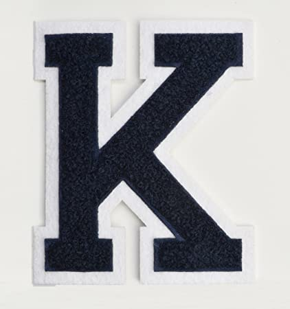 varsity letter patches dark navy blue embroidered chenille letterman patch 4 12