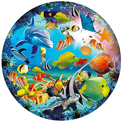 1000 PCS - Ocean Dream Round Jigsaw Puzzles Game for Adults and Kids: Toys & Games