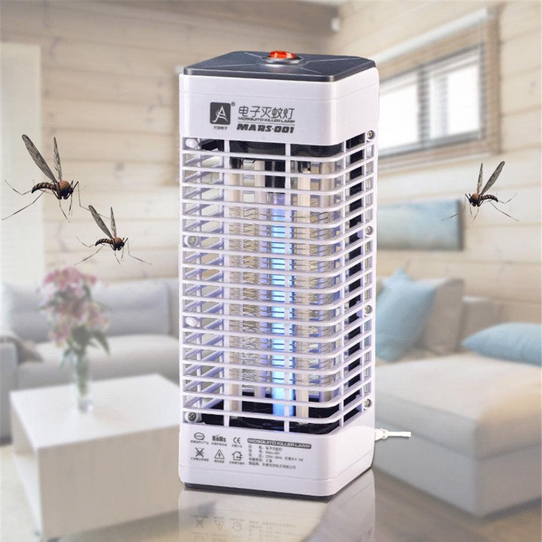 1PC LED Socket Electric Mosquito Bug Insect Trap Night Lamp Killer Zapper (Gray, 26*10.2*10.2cm) Anglewolf_1542