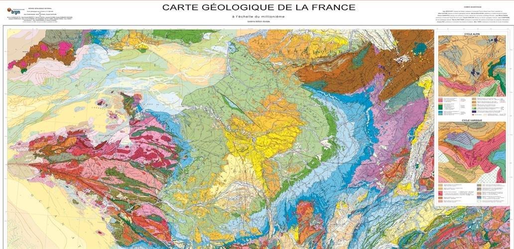 Carte Geologique Australie.Amazon Fr Carte Geologique De La France 1 1 000 000 Cartes