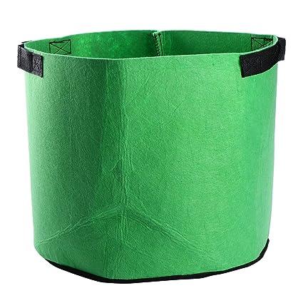 OUNONA - Bolsa de cultivo para plantas de 3 galones de tela ...