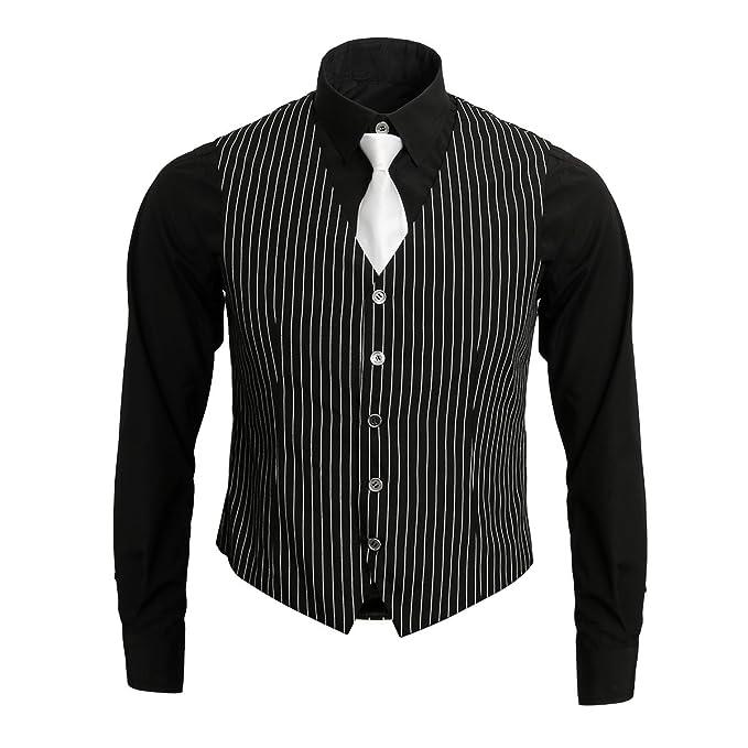 Nofonda 1920s Disfraz de Gangster,Camisa,Chaleco y Corbata ...