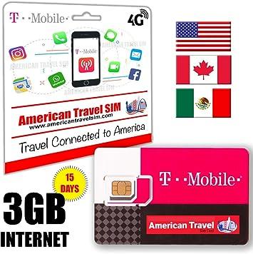 Prepaid Sim Karte 3gb Data 4g Lte Fur Usa Amazon De Elektronik