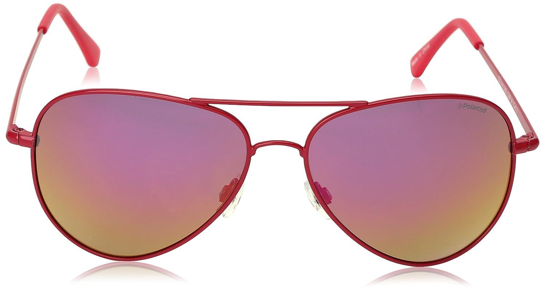 Polaroid Unisex-Erwachsene P4139 AI C6P Sonnenbrille, Pink (Shiny Pink/Grey Mirror Polarized), 58