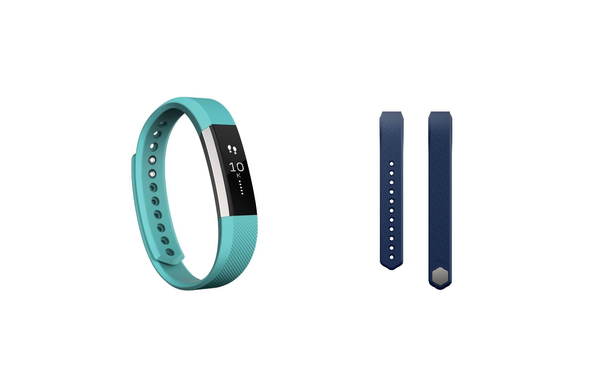 Fitbit Alta (Teal, Large) + Accessory Band (Blue, Large)