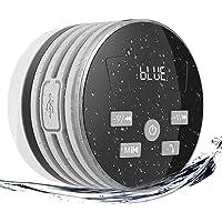 Extsud doccia altoparlante bluetooth impermeabile, IPX7doccia con radio FM, altoparlanti wireless Bluetooth con ventosa, 5W driver, buit-in mic vivavoce, vivavoce (grigio)