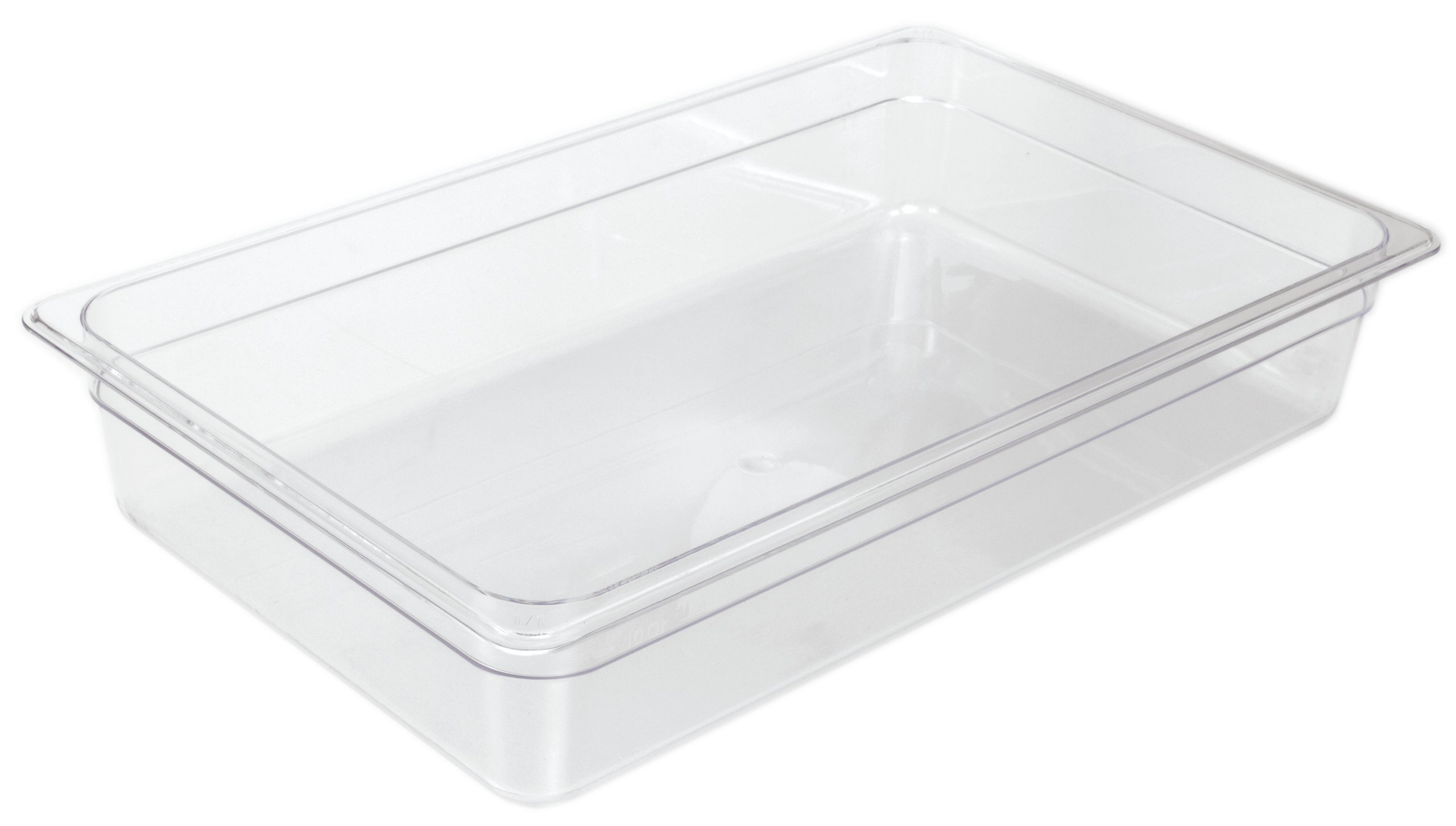 Crestware Commercial Grade, FP46, Polycarbonate Food Pan Fourth Size 6'', Set of 4