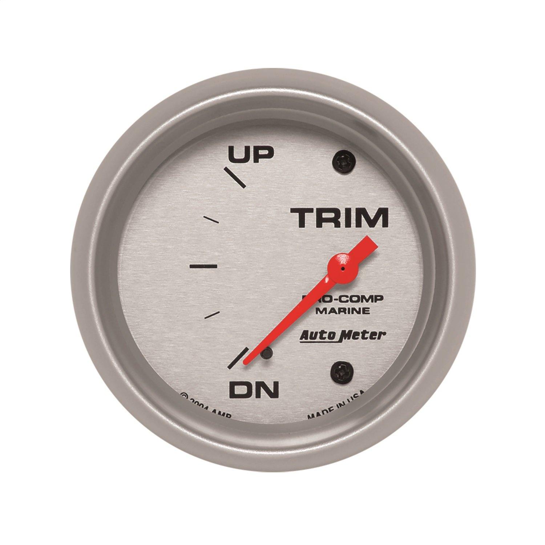 Auto Meter AutoMeter 200767-33 Ultra-Lite Gauge, Trim Level, 2 5/8'', 0Ωdown-90Ωup, Electric, Marine Silver