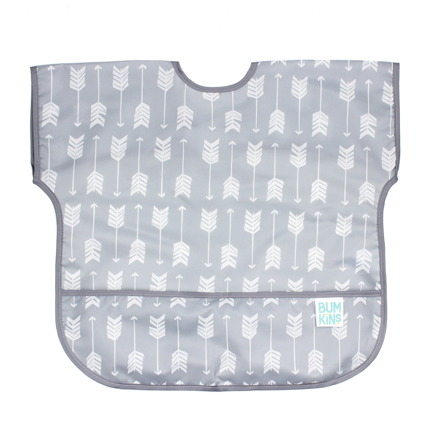 Bumkins Waterproof Junior Bib, Gray Chevron (1-3 Years) U-501