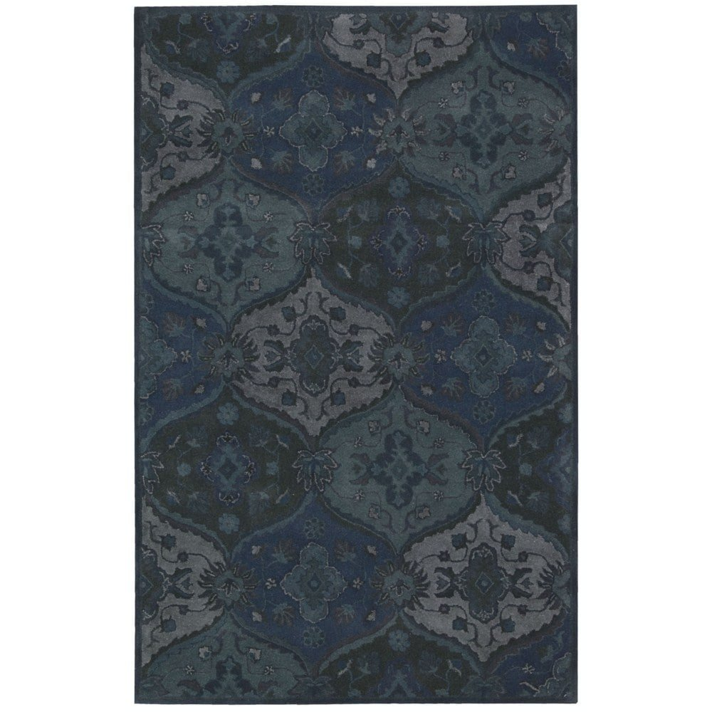 Nourison India House (IH88) Denim Rectangle Area Rug, 8-Feet by 10-Feet 6-Inches (8' x 10'6'')