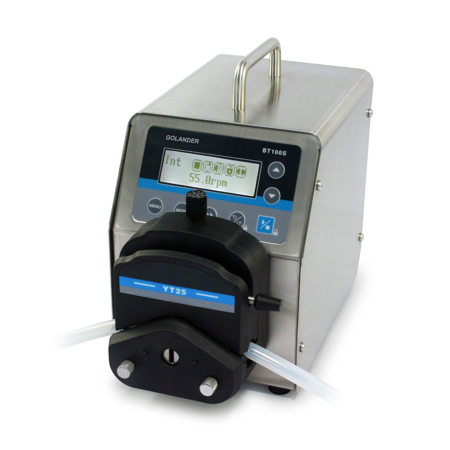 BT100S Basic Variable Speed Peristaltic Pump with Pump Head YT25 (1 Channel), Flow Rate 0.17~720 mL/min Per Channel
