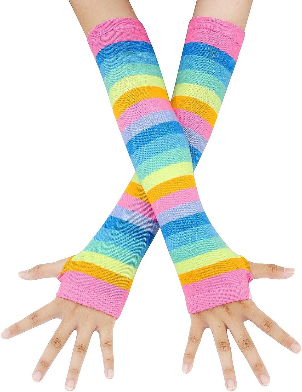 Punk Gothic Rock Long Arm Warmer Fingerless Gloves