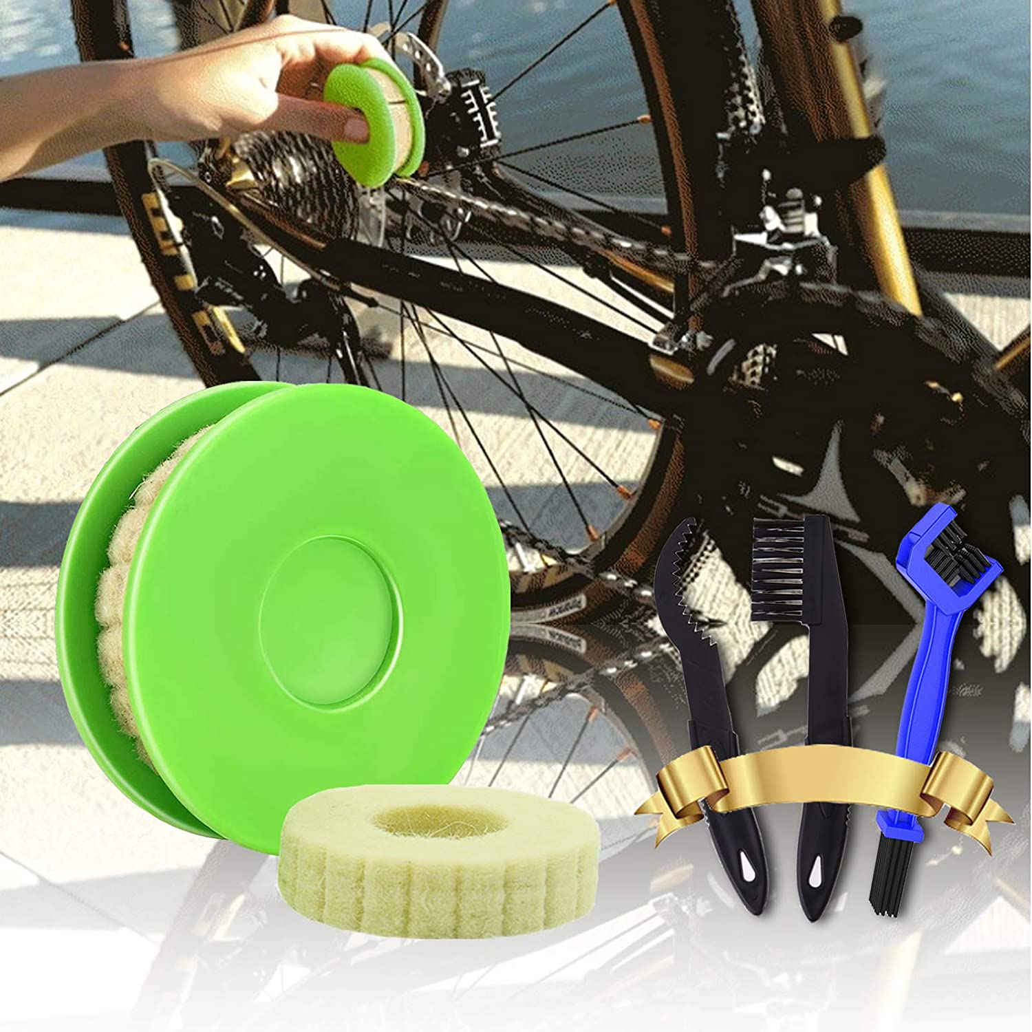 Suitable for Bicycle//Motorcycle Chain Chain Cleaning Tool Bike Chain Care Tool Kit Bicycle Chain Maintenance Tool Not Include Lube Bike Chain Lube Bike Chain Gear Oiler Roller