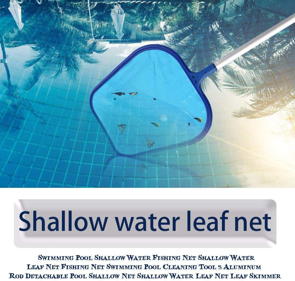with Adjustable Telescopic Pole Delaman Pool Skimmer Net Swimming Pool Leaf Skimmer Mesh Net Pond Cleaning Tool