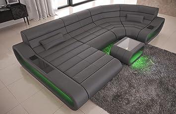 Sofa Dreams Ledersofa Wohnlandschaft Mit Led Beleuchtung Concept