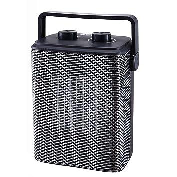 Calentador QFFL eléctricos domésticos de Ahorro de energía Estufa de Tostado de oficinas Enfriamiento y calefacción (Color : Negro): Amazon.es: Hogar