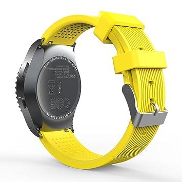 MoKo Gear S2 Classic Correa del Reloj, Reemplazo Silicona ...