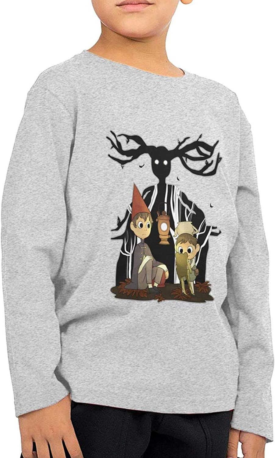 Children's Over The Garden Wall Long Sleeves Novelty Crew Neck Casual T-Shirt Gray