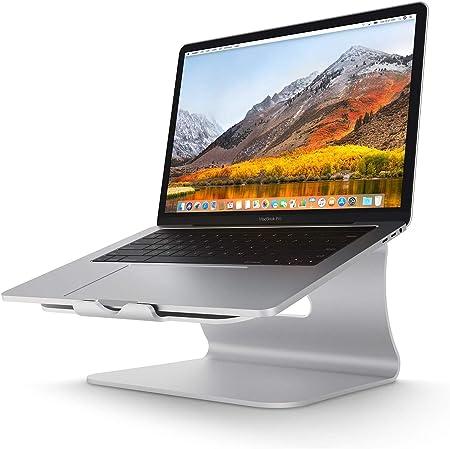 Soporte para Portátil , Soporte laptop diseñado para Apple MacBook/Ordenadores portátiles,Soporte Ordenadores Portátiles Aluminio,Plata (Patentado)