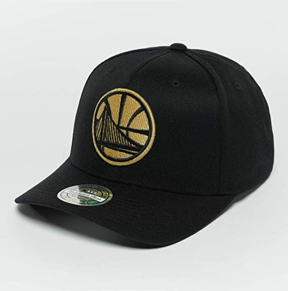 c3cb3829 Mitchell & Ness Men Caps/Snapback Cap The Black and Golden 110 Golden State  Warriors Black - 465763 Adjustable: Amazon.co.uk: Clothing