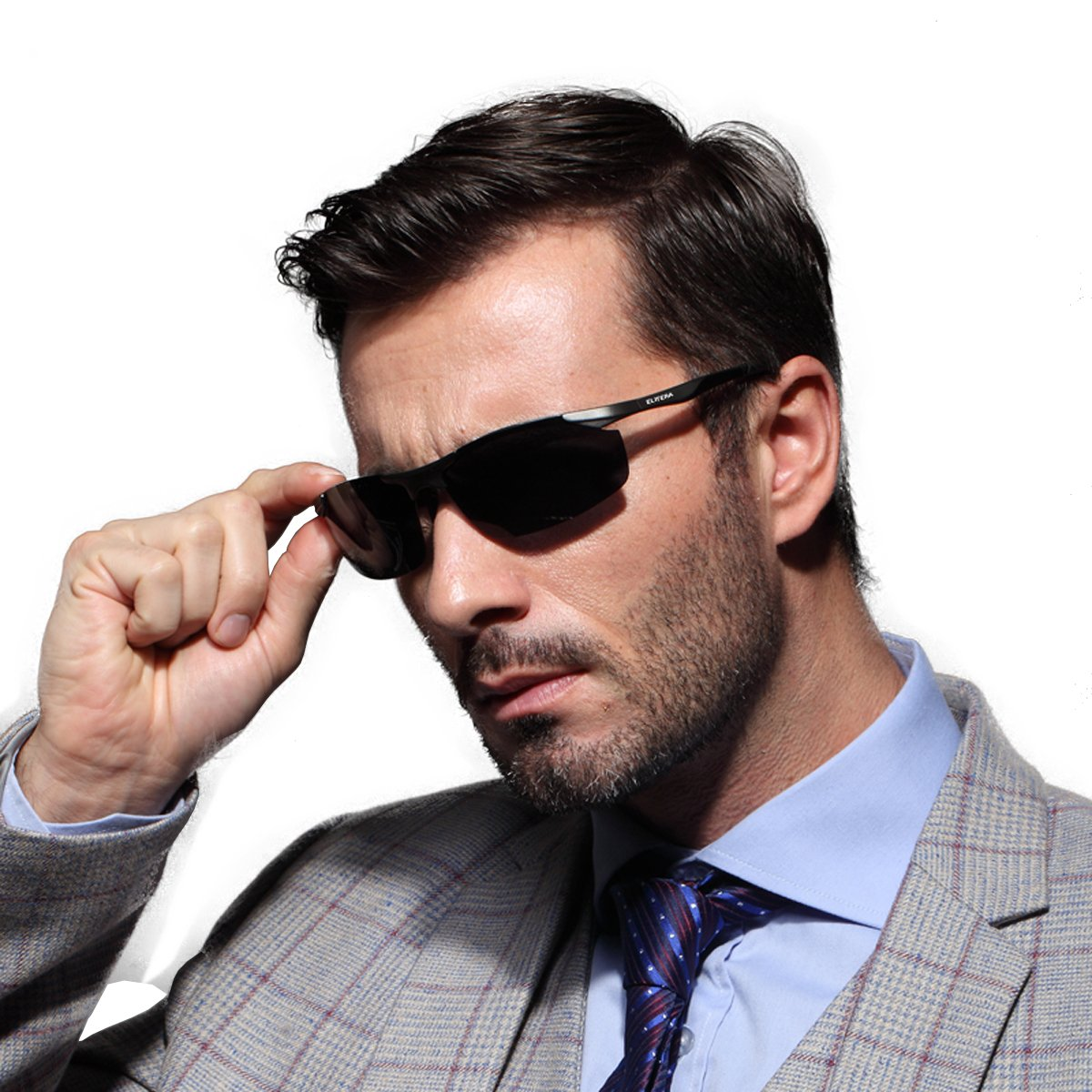 ELITERA Aluminum Magnesium Alloy Polarized Sunglasses Mens For Sports Driving Traval E8179 (GRAY&GRAY, 70)